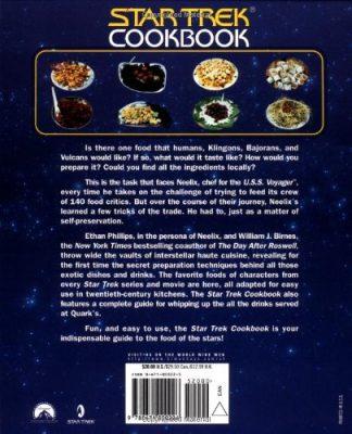 Back Cover of The Star Trek Cookbook